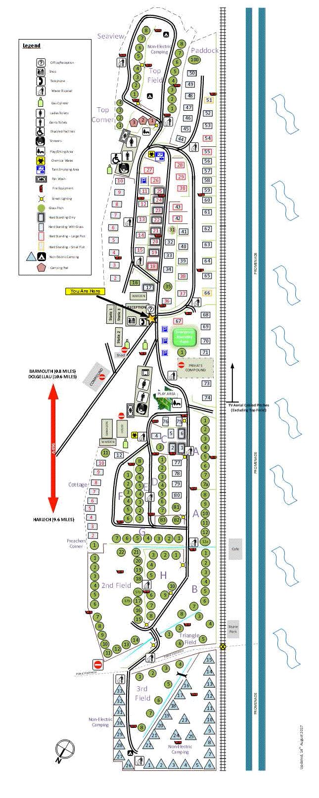 hendre mynach park map